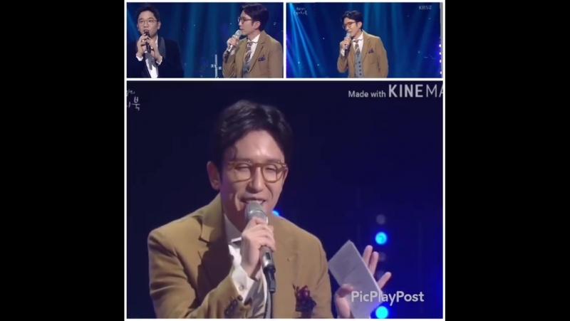 """Ведущий шоу «Набросок Ю ХиЁля» 지창욱 - 아이처럼 исполняет песню ЧанУка «Rain""""😂😂😂"""