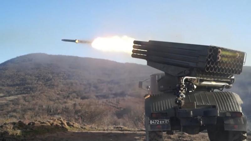 Учения артиллеристов ЮВО в Абхазии