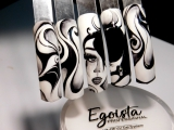 Рисуем Гель лаками лицо на типсах ТОП Красивый дизайн ногтей. Новинки от мастера маникюра nail 2017