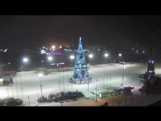 С Новым годом! Владивосток Дрифт вокруг новогодней ёлки