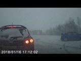 ДТП 16 января 2018 трасса Кемерово - Ленинск-Кузнецкий, 7 автомобилей (1)