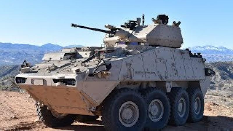 Devastating XM1296 Stryker Dragoon in Action - Firing the Mk44 Bushmaster II 30mm