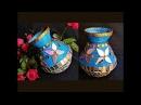 DIY - Newspaper Old CD Decorative Pot / DIY Flower vase / DIY Pen Stand / Best out of waste