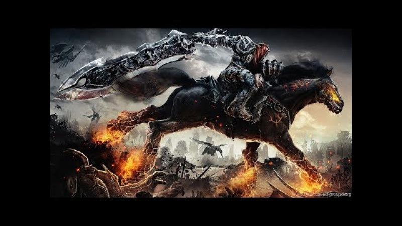 Всадник войны в Darksiders сражается против сил тьмы(демоны) и сил света(ангелы), выде ...