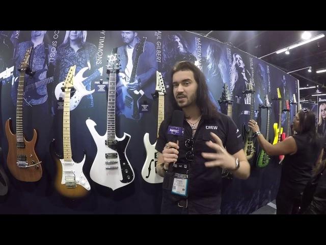 NAMM 2018   Ibanez FRM200 Paul Gilbert Signature Fireman Guitar in White Blonde