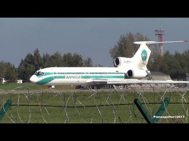 Tupolev Tu-154M RA-85757 Alrosa. Taxi, Takeoff