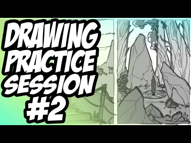 Drawing Practice Session 2 - Environment Thumbnails