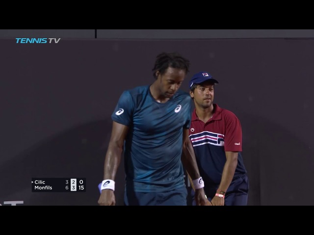 Watch Highlights Monfils In Close Contest Against Cilic