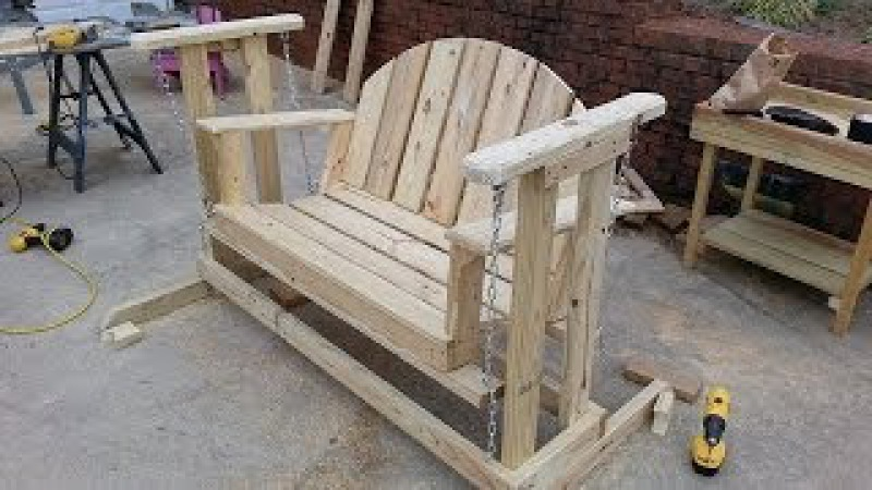 How to build a porch swing glider. - YouTube