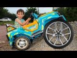BAD BABY Ride on Power Wheel car Щенячий патруль Видео для детей Вредные детки и машина Power Wheels