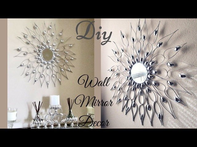 Diy Quick and Easy Glam Wall Mirror Decor Wall Decorating Idea