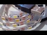 Светодиодная лента 5050 питание USB 5 V.