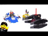 LEGO Star Wars Microfighters A-Wing vs. TIE Silencer review! 75196