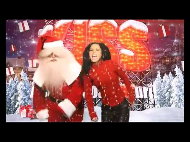 INNA wish you a Merry Christmas INNA with Santa Claus at Kiss FM