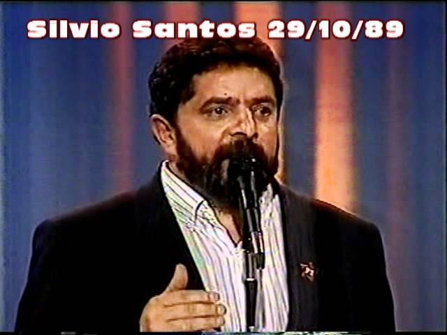 Sergio Mallandro entrevista Lula Show de Calouros Silvio Santos - 22/10/1989