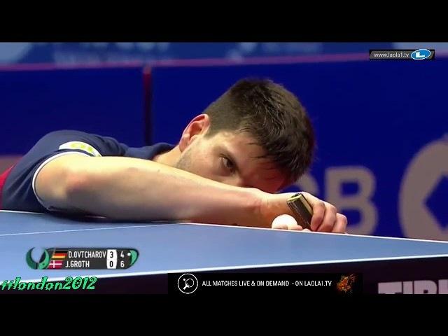 Dimitrij Ovtcharov vs Jonathan Groth (2018 - Europe Top 16)