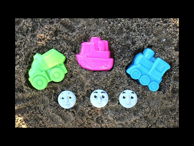 Learn Colors with Thomas the Train Toys Sand Molds Cars Nursery Rhymes Song For Bad Kids