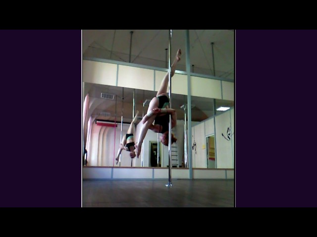 Lyudmila Bukrina. Pole dance tricks, elements and combos april - may 2016.
