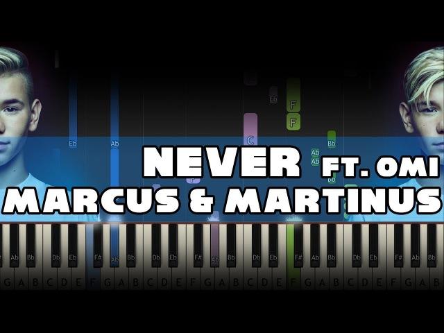 Marcus Martinus ft. OMI - Never - Piano Tutorial