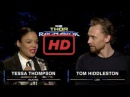 Tessa Thompson and Tom Hiddleston on Marvel Studios' Thor: Ragnarok  | TV 2017
