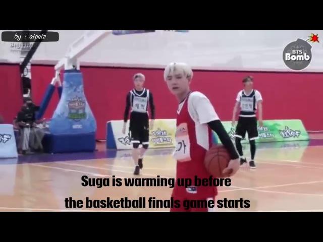 Suga play basketball