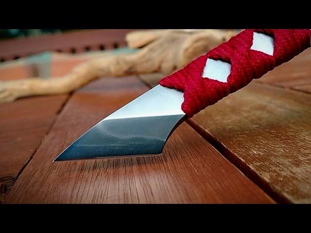 Making a japanese kiridashi ( hamon) with COMMON HAND TOOLS ONLY - Knife making Part 2