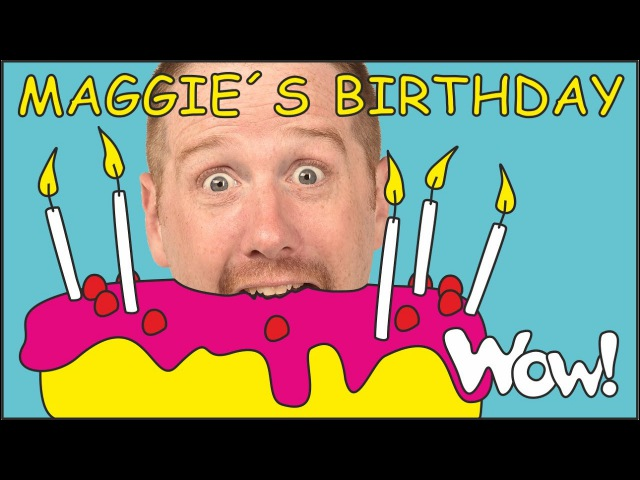 Maggie's Birthday Story for Kids NEW from Steve and Maggie Stories for Kids by Wow English TV