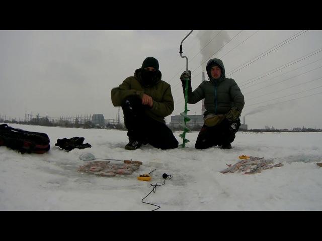 Зимняя рыбалка!Окунь.Густера.Камера Gitup Git2p!