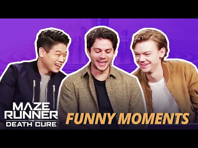 Ki Hong Thomas Cant Stop Laughing at Dylan OBrien - Maze Runner Cast Funny Moments