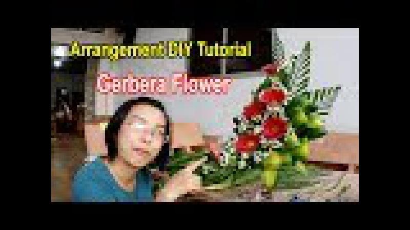 Cắm hoa bàn thờ tập 34 Lẳng HOA ĐỒNG TIỀN ĐỎ Gerbera Flower