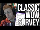 Sodapoppin Answers The Ultimate WoW Classic Design Survey