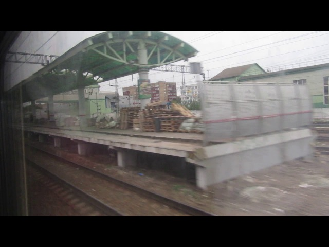Раменское, Фабричная. Поезд№541С Адлер-Москва 30.08.2017