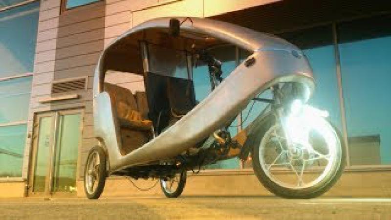 СУПЕР ВЕЛОСИПЕД из Китая, Крутая Вело Рикша небольшой тюнинг