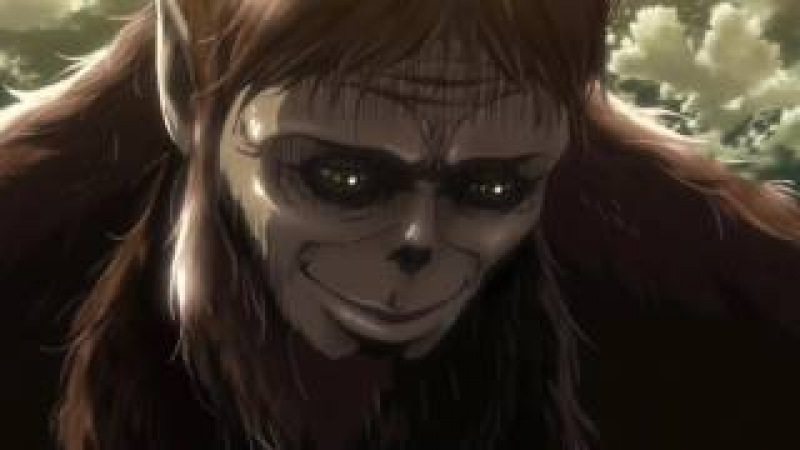 Атака на Титан Сезон 2 Эпизод 1 Звероподобный гигант и Майк Захариас съели титанов