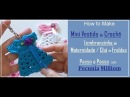 DIY Lembrancinha Maternidade Mini Vestido de Crochê Com Pecunia MillioM