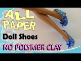How to Make Doll Shoes Entirely from Paper – No Polymer Clay, Paper Doll Shoe DIY.