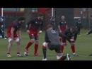 Georgian Rugby vs England Rugby / Scrum training