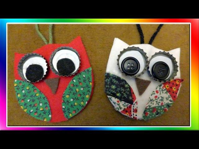Easy Owl Christmas Ornaments