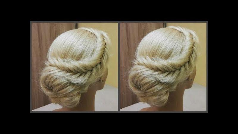 Быстрая и легкая прическа.Легко сделать самой себе.🎄Fast beautiful and easy hairstyle. Easily!🎄