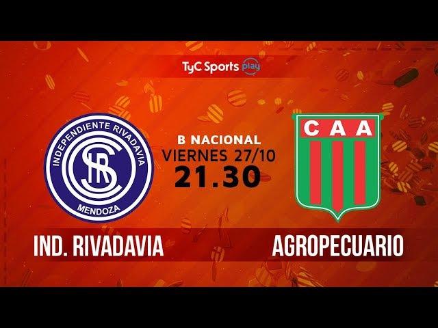 Primera B Nacional Independiente Rivadavia (Mza) vs. Agropecuario | BNacionalenTyC