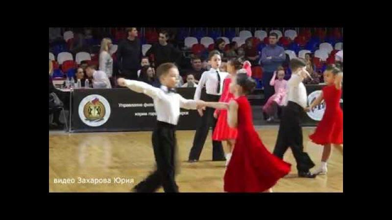 Ча-Ча-Ча в 1/4 финала танцуют Захаров Степан и Крапивина Арина пара №142
