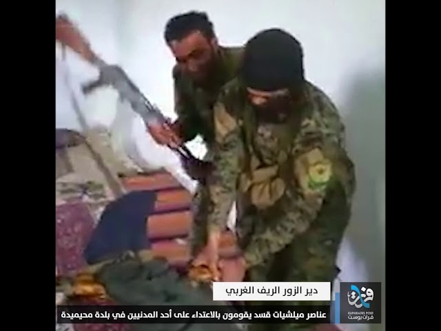 Воинствующие элементы милиции проверяют гражданские лица в городе Мухаммеда