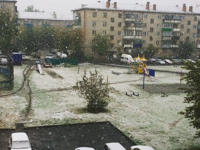 Навостоке Башкирии выпал снег