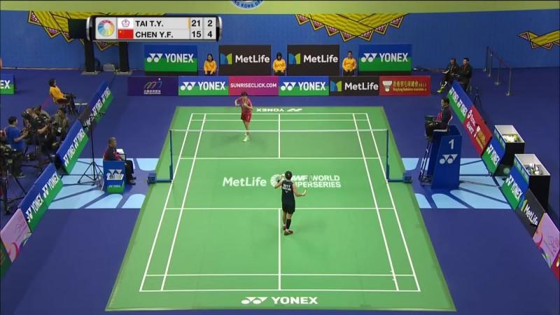 Hong Kong Open 2017 QF WS _ Tai Tzu Ying vs Chen Yufei - бадминтон