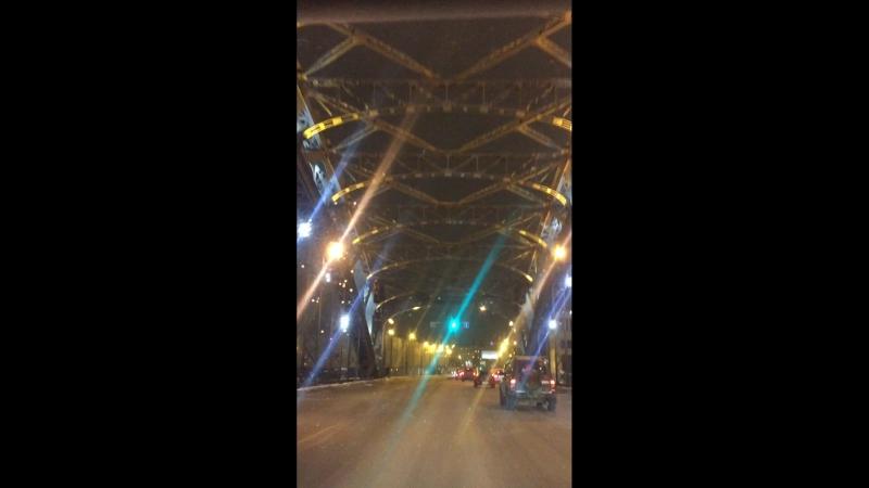 Вечерний Петербург Большеохтинский мост