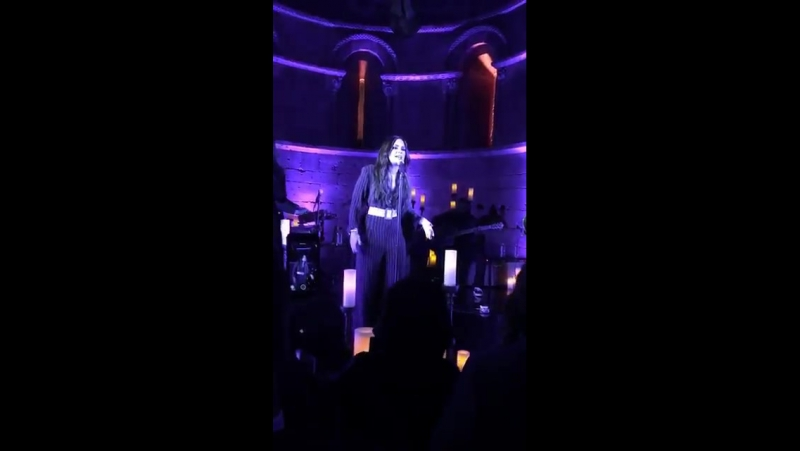 Demi Lovato performing Tell Me You Love Me at the Met Cloisters in New York City