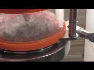 Тест барботажных тарелок с переменным сечением на воде....