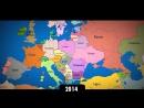Изменение границ Европы за последнее тысячелетие.