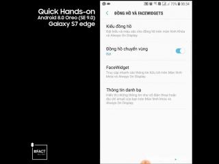Phiên bản Android 8.0 Oreo trên Samsung Galaxy S7 edge có gì mới - Whats new on Android 8.0