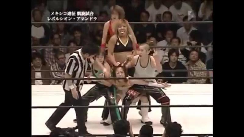 Revolucion Amandola (Tomoka Nakagawa, Atsuko Emoto, Kyoko Kimura) vs. Ayumi Kurihara, Fuka, Yuki Miyazaki